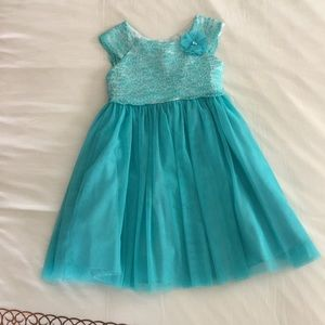 Teal girls lace dress size 6